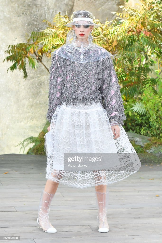model-walks-the-runway-during-the-chanel-paris-show-as-part-of-the-picture-id856998980