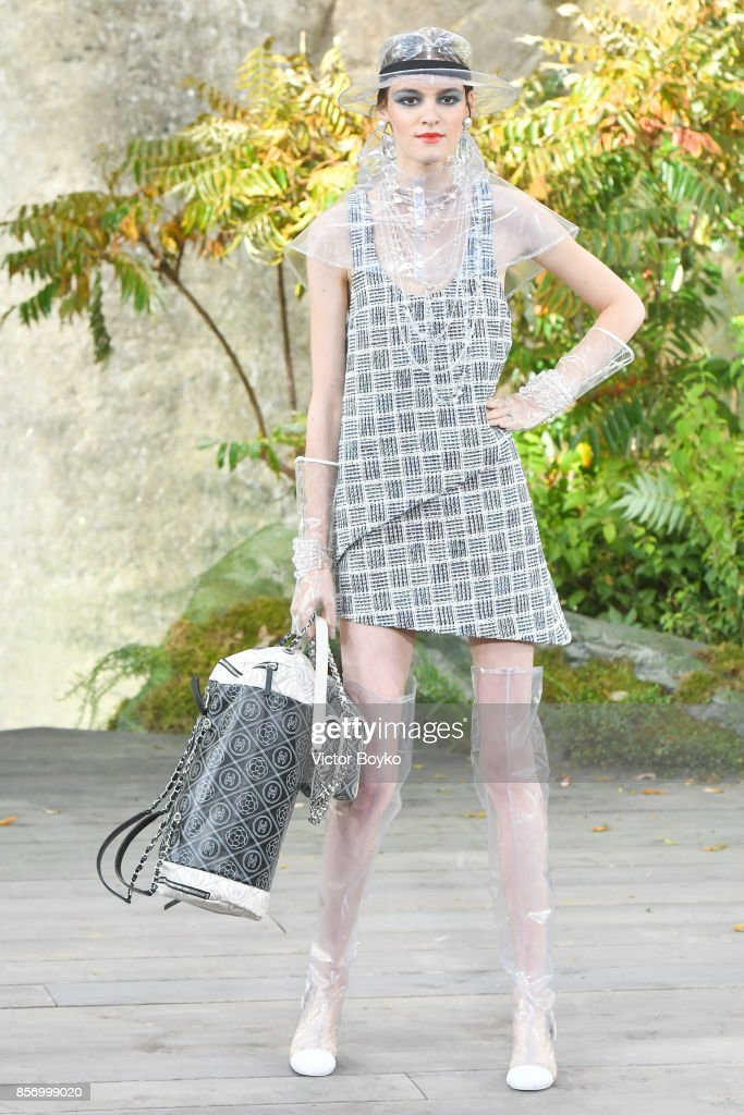 model-walks-the-runway-during-the-chanel-paris-show-as-part-of-the-picture-id856999020