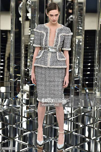 A model walks the runway during the Chanel Spring Summer 2017 show as part of Paris Fashion Week on January 24 2017 in Paris France