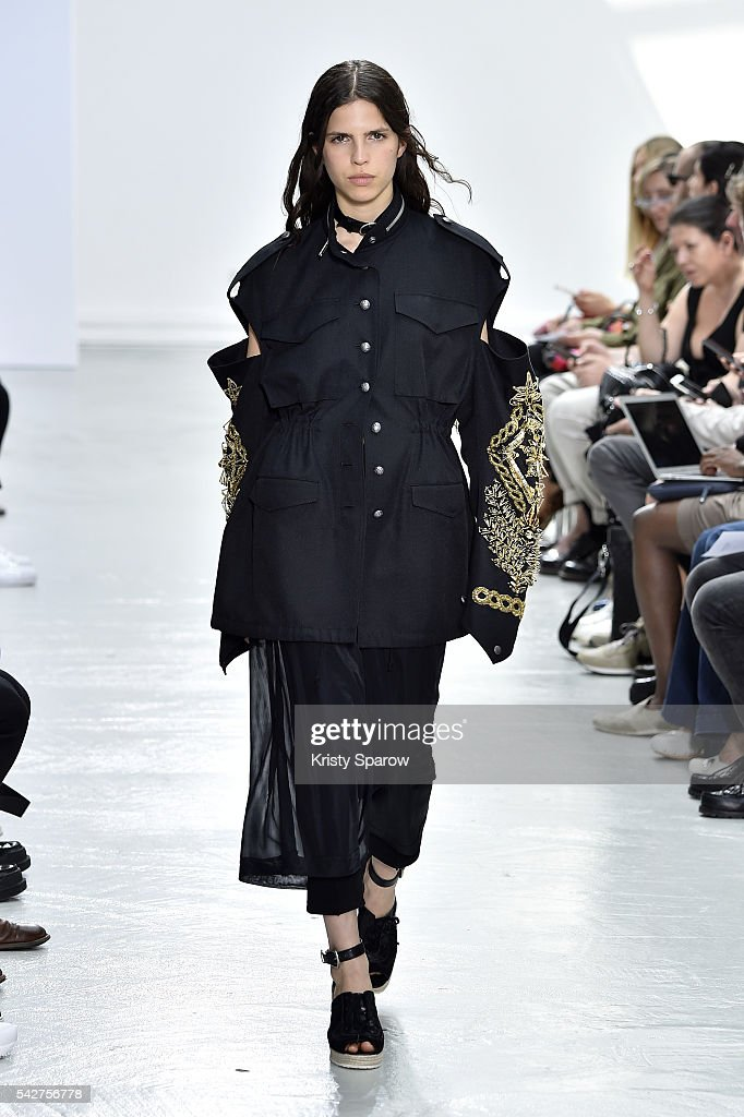 A model walks the runway during the Christian Dada Menswear Spring/Summer 2017 show as part of Paris Fashion Week on June 24 2016 in Paris France