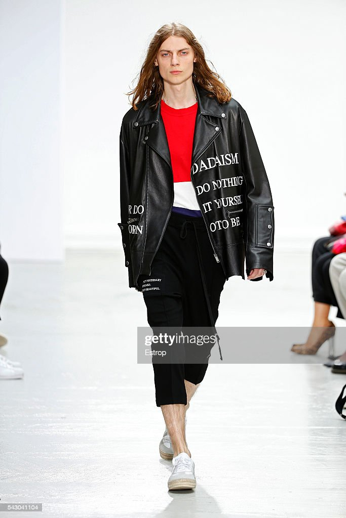 A model walks the runway during the Christian Dada Menswear Spring/Summer 2017 show as part of Paris Fashion Week on June 24, 2016 in Paris, France.