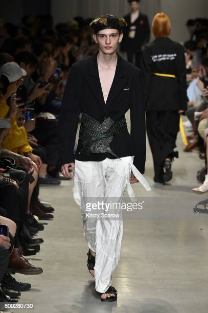 A model walks the runway during the Christian Dada Menswear Spring/Summer 2018 show as part of Paris Fashion Week on June 23 2017 in Paris France