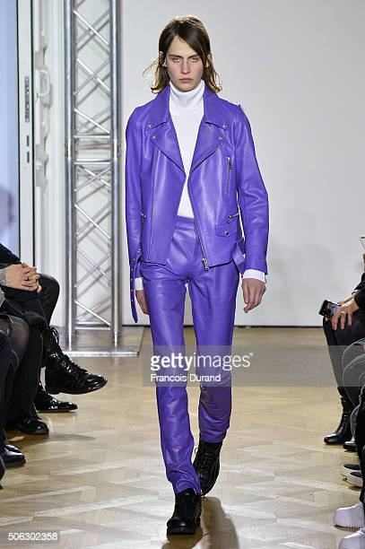 A model walks the runway during the Christian Dada Menswear Fall/Winter 20162017 show as part of Paris Fashion Week on January 22 2016 in Paris France