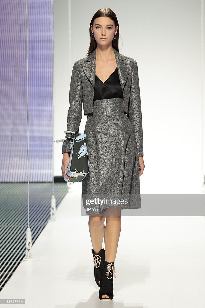 A model walks the runway during the Christian Dior Cruise 2015 show at Brooklyn Navy Yard on May 7, 2014 in the Brooklyn borough of Brooklyn City.