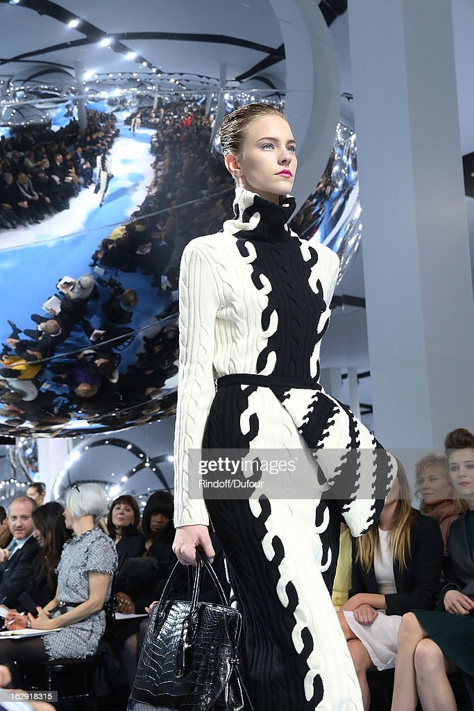 A Model walks the runway during the Christian Dior Fall/Winter 2013 Ready-to-Wear show as part of Paris Fashion Week on March 1, 2013 in Paris, France.
