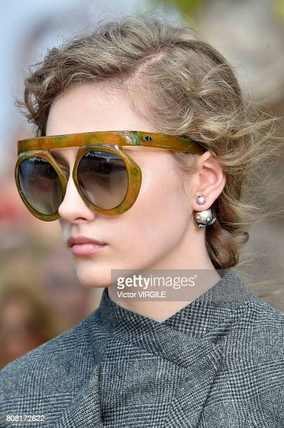 A model walks the runway during the Christian Dior Haute Couture Fall/Winter 20172018 show as part of Haute Couture Paris Fashion Week on July 3 2017...