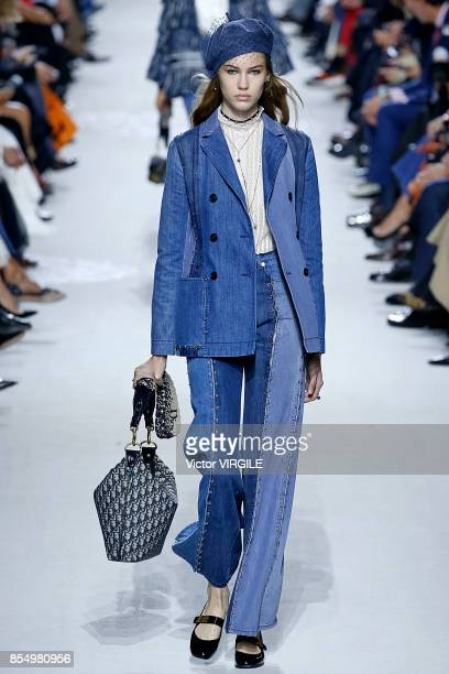 A model walks the runway during the Christian Dior Ready to Wear Spring/Summer 2018 fashion show as part of Paris Fashion Week at Musee Rodin on...