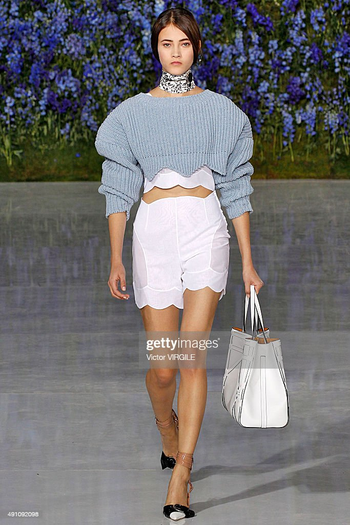 A model walks the runway during the Christian Dior Ready to Wear show as part of the Paris Fashion Week Womenswear Spring/Summer 2016 on October 2, 2015 in Paris, France.