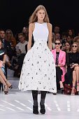 A model walks the runway during the Christian Dior show as part of the Paris Fashion Week Womenswear Spring/Summer 2015 on September 26 2014 in Paris...
