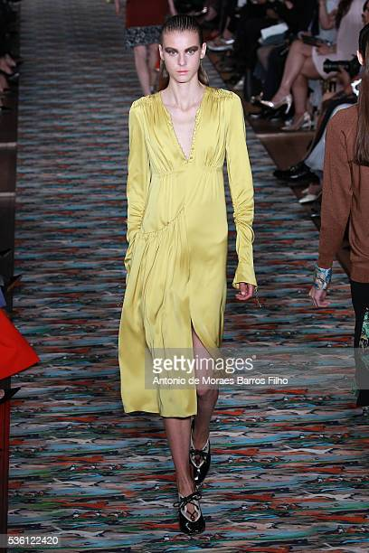 A model walks the runway during the Christian Dior showcases its spring summer 2017 cruise collection at Blenheim Palace on May 31 2016 in Woodstock...