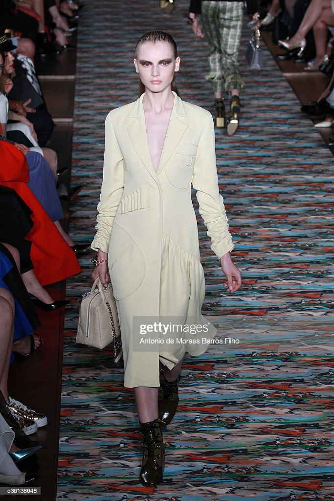 A model walks the runway during the Christian Dior showcases its spring summer 2017 cruise collection at Blenheim Palace on May 31, 2016 in Woodstock, England.