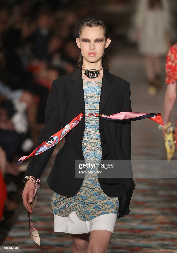 A model walks the runway during the Christian Dior Spring Summer 2017 Cruise Collection at Blenheim Palace on May 31, 2016 in Woodstock, England.