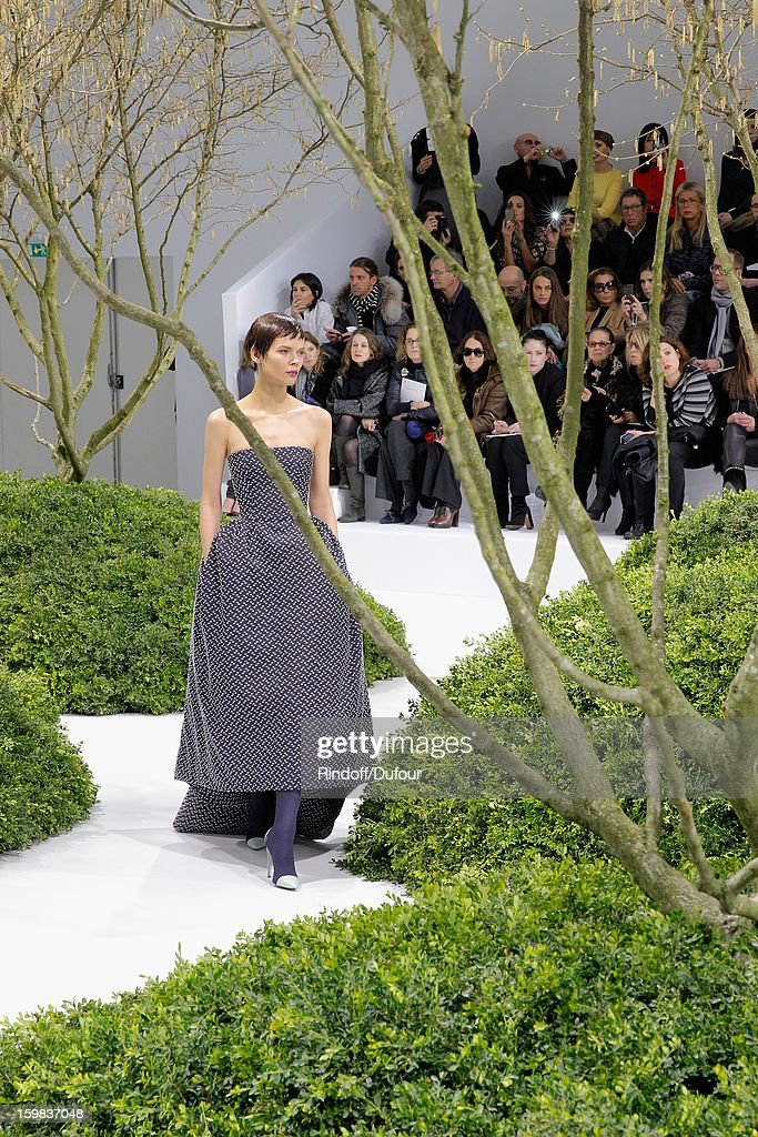 A model walks the runway during the Christian Dior Spring/Summer 2013 Haute-Couture show as part of Paris Fashion Week on January 21, 2013 in Paris, France.