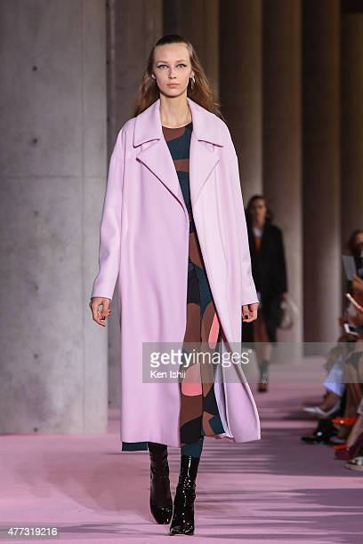 A model walks the runway during the Christian Dior TOKYO Autumn/Winter 201516 ReadyToWear Show on June 16 2015 in Tokyo Japan