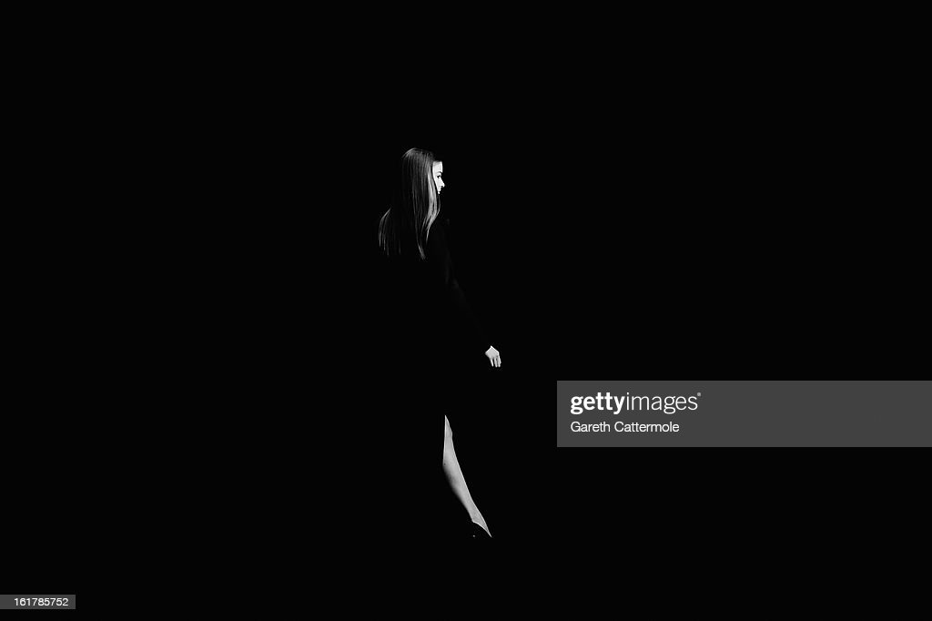 A model walks the runway during the DAKS show as part of London Fashion Week Fall/Winter 2013/14 at Somerset House on February 16, 2013 in London, England.