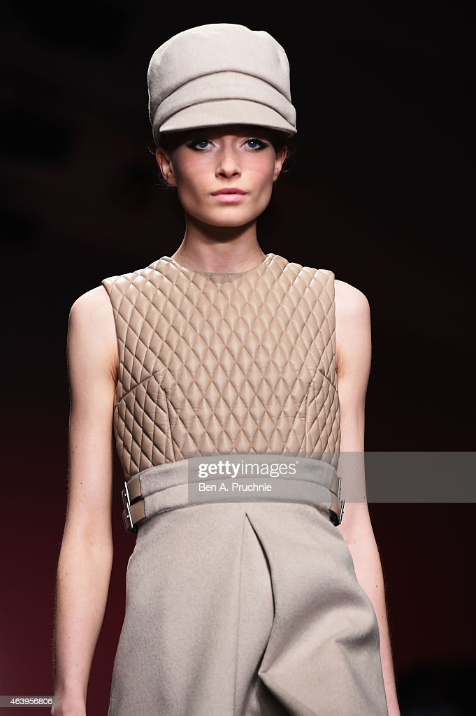 A model walks the runway during the Daks show at London Fashion Week Fall/Winter 2015/16 at on February 20 2015 in London England