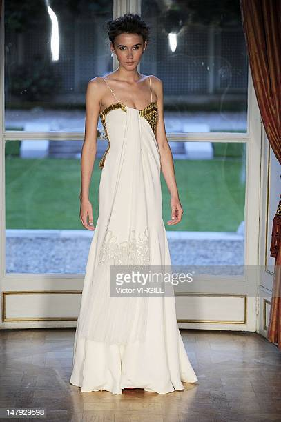 A model walks the runway during the Dany Atrache Haute Couture Fall Winter 20122013 show as part of the Paris Haute couture Week on July 4 2012 in...