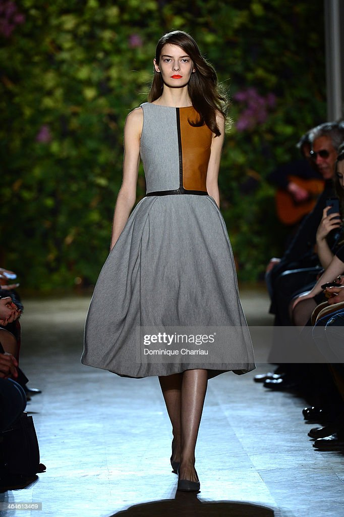 A model walks the runway during the Didit show as part of Paris Fashion Week Haute Couture Spring/Summer 2014 on January 23, 2014 in Paris, France.