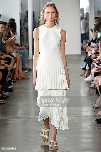 A model walks the runway during the Dion Lee Ready to Wear Spring Summer 2017 fashion show during New York Fashion Week September 2016 on September...