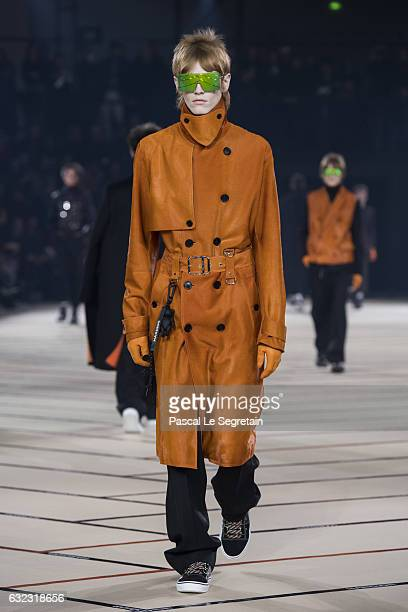 A model walks the runway during the Dior Homme Menswear Fall/Winter 20172018 show as part of Paris Fashion Week on January 21 2017 in Paris France