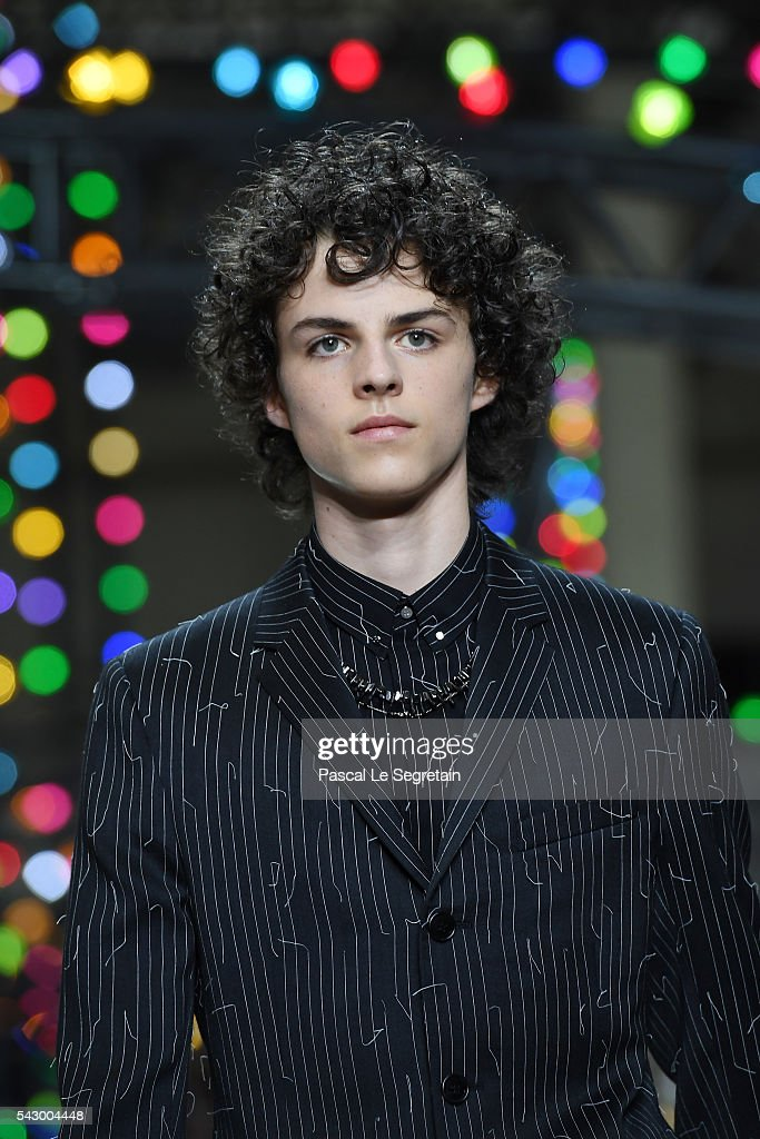 A model walks the runway during the Dior Homme Menswear Spring/Summer 2017 show as part of Paris Fashion Week on June 25, 2016 in Paris, France.