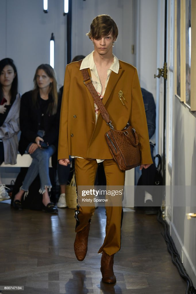 model-walks-the-runway-during-the-enfants-riches-deprimes-menswear-picture-id800747134