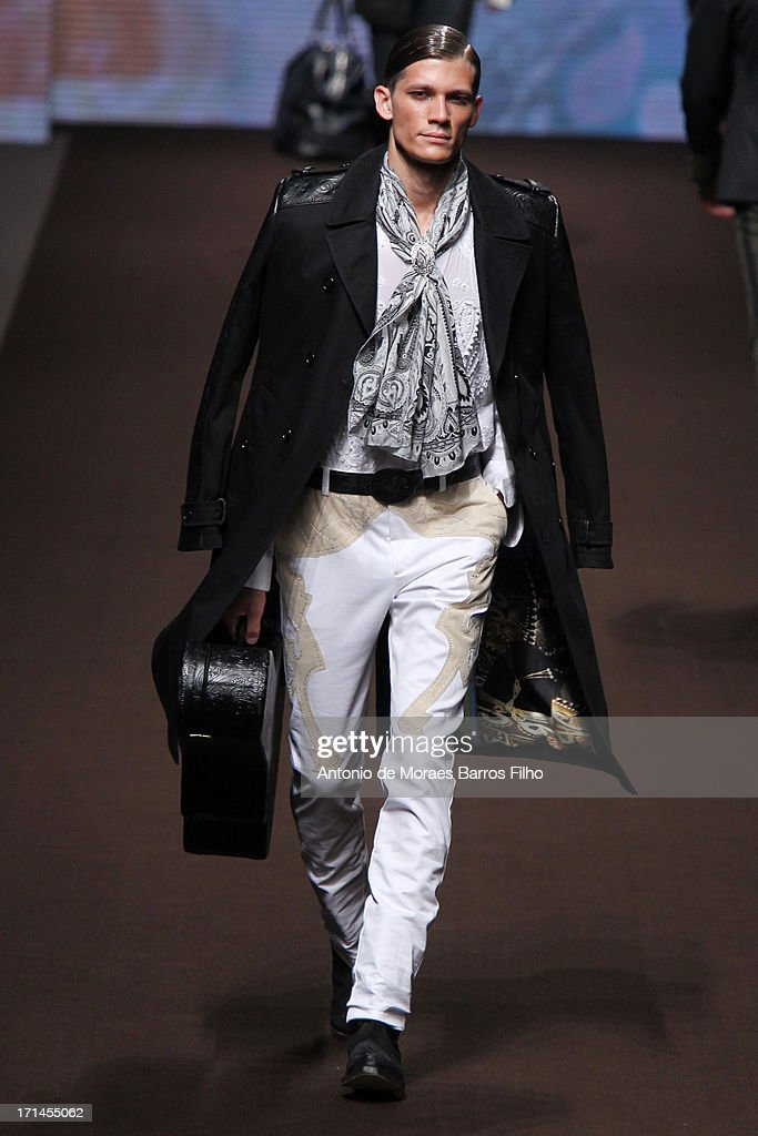 A model walks the runway during the Etro show as a part of MFW S/S 2014 on June 24, 2013 in Milan, Italy.