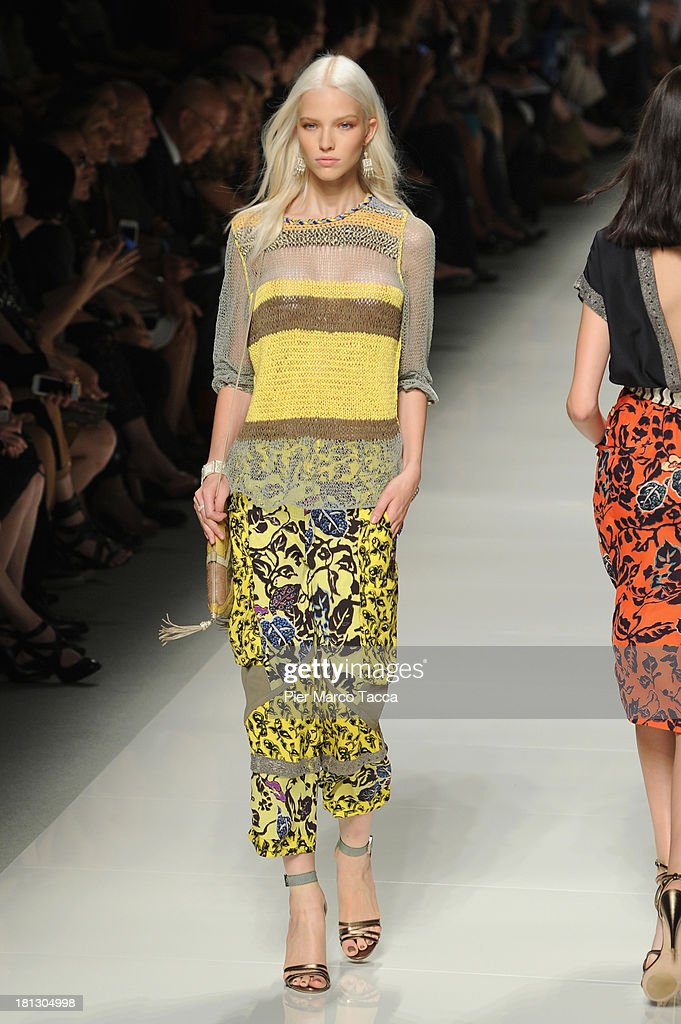 A model walks the runway during the Etro show as a part of Milan Fashion Week Womenswear Spring/Summer 2014 on September 20, 2013 in Milan, Italy.