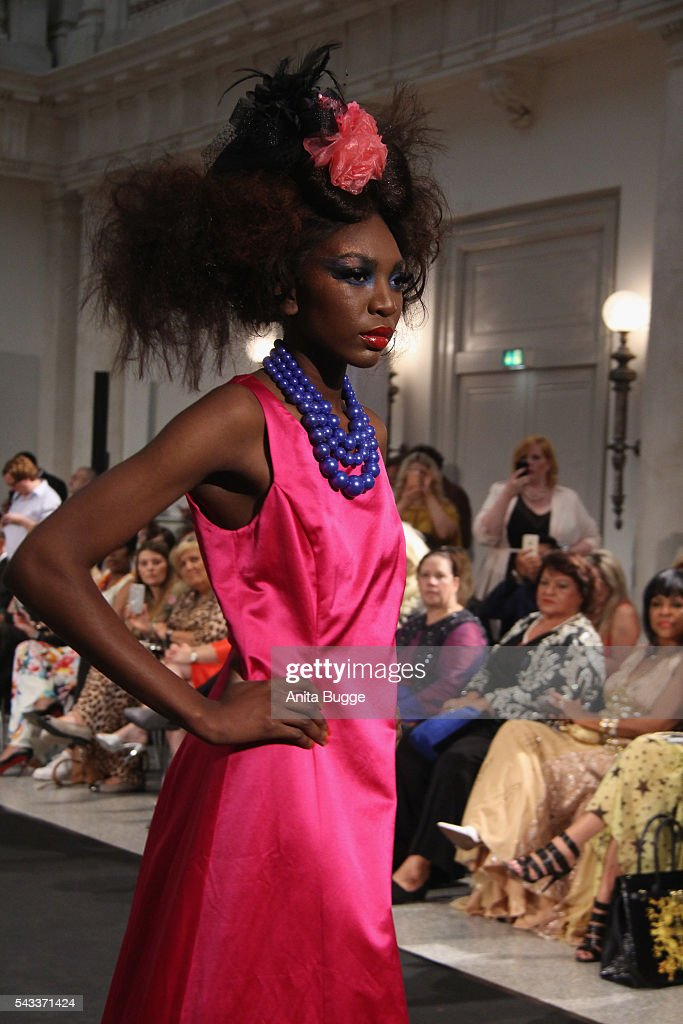 A model walks the runway during the fashion staging of the fairy tale 'Die zertanzten Schuhe' by Harald Gloeoeckler at Hotel de Rome on June 27, 2016 in Berlin, Germany.