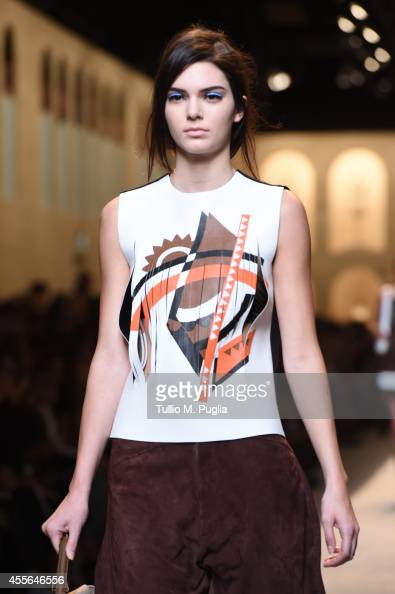 A model walks the runway during the Fendi show as a part of Milan Fashion Week Womenswear Spring/Summer 2015 on September 18 2014 in Milan Italy