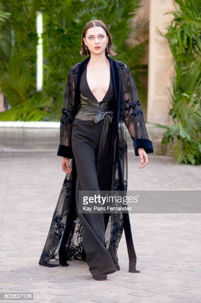 A model walks the runway during the Galia Lahav Haute Couture Fall/Winter 20172018 show as part of Haute Couture Paris Fashion Week on July 2 2017 in...
