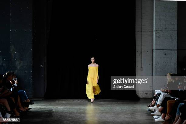 A model walks the runway during the Gary Bigeni show at MercedesBenz Fashion Week Resort 18 Collections at Elston Room on May 16 2017 in Sydney...