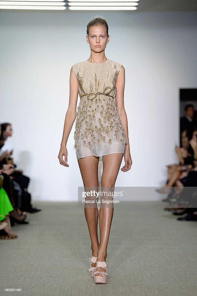 A model walks the runway during the Giambattista Valli show as part of the Paris Fashion Week Womenswear Spring/Summer 2014 on September 30, 2013 in Paris, France.