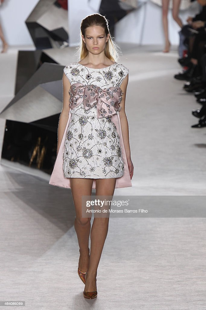 A model walks the runway during the Giambattista Valli show as part of Paris Fashion Week Haute Couture Spring/Summer 2014 on January 20, 2014 in Paris, France.
