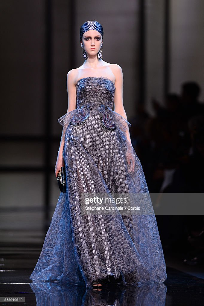 France - Giorgio Armani Prive : Runway - Paris Fashion Week - Haute Couture S/S 2014