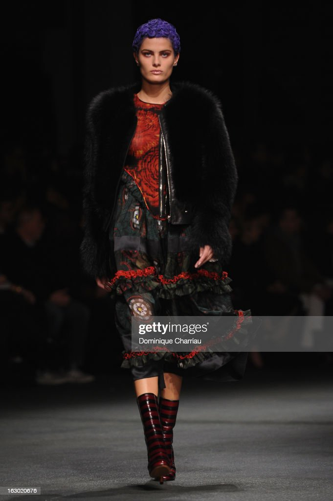 A model walks the runway during the Givenchy Fall/Winter 2013 Ready-to-Wear show as part of Paris Fashion Week on March 3, 2013 in Paris, France.