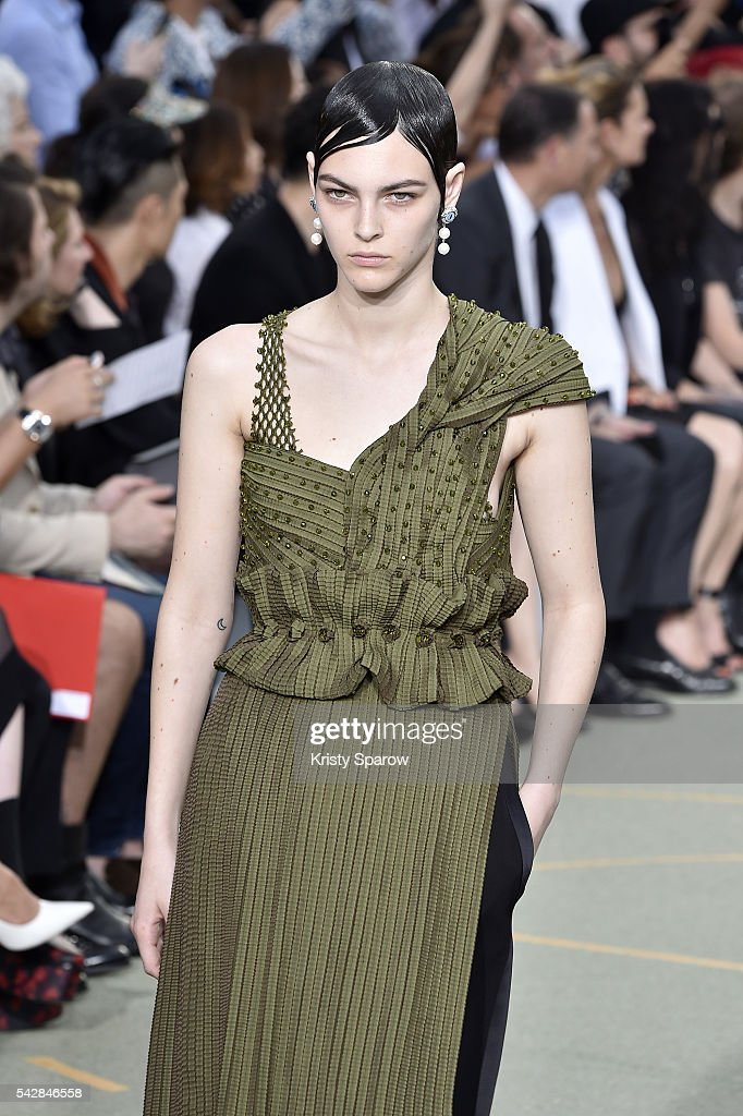 A model walks the runway during the Givenchy Menswear Spring/Summer 2017 show as part of Paris Fashion Week on June 24, 2016 in Paris, France.