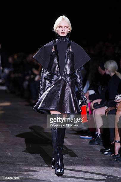 A model Walks the runway during the Givenchy ReadyToWear Fall/Winter 2012 show as part of Paris Fashion Week on March 4 2012 in Paris France