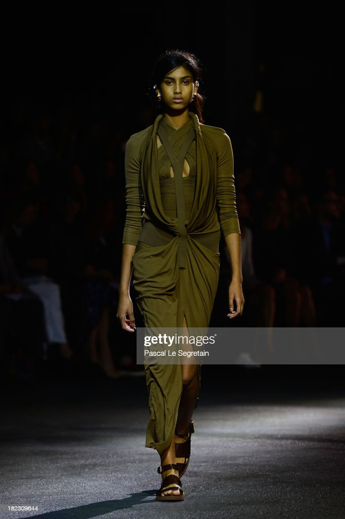 A model walks the runway during the Givenchy show as part of the Paris Fashion Week Womenswear Spring/Summer 2014 on September 29, 2013 in Paris, France.