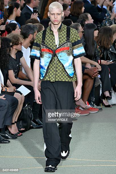 A model walks the runway during the Givenchy Spring/Summer 2017 show as part of Paris Fashion Week on June 24 2016 in Paris France