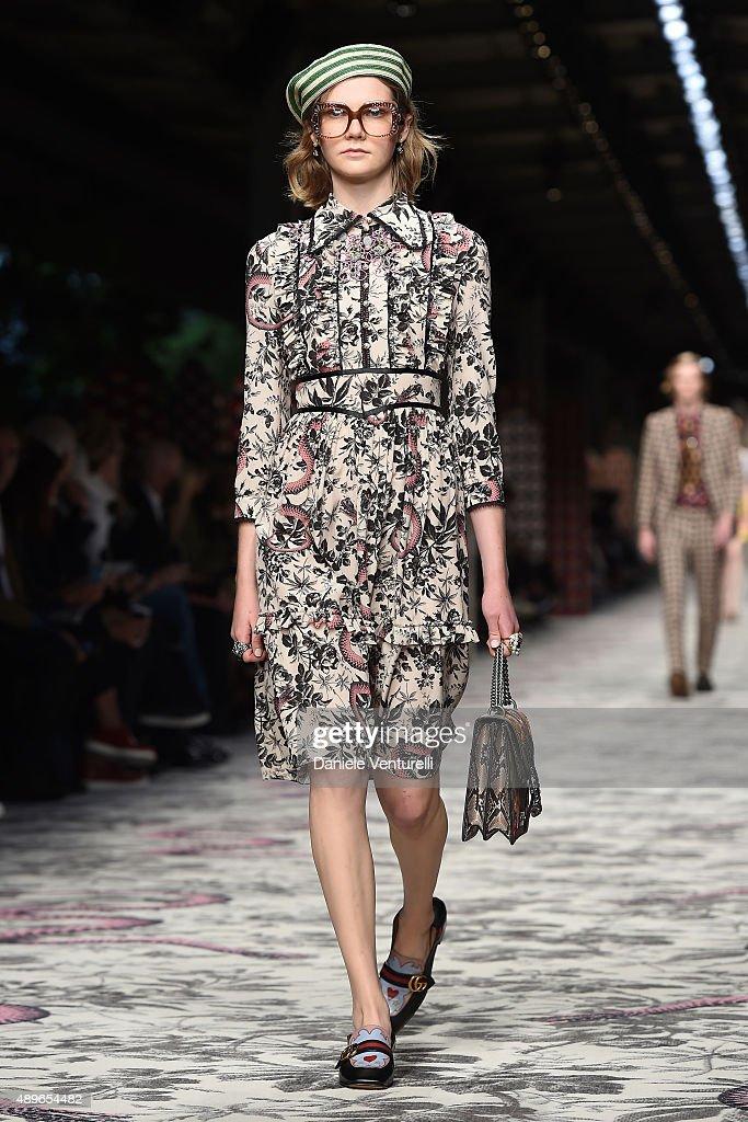 Gucci runway milan fashion week ss16 getty images for Gucci milan fashion week