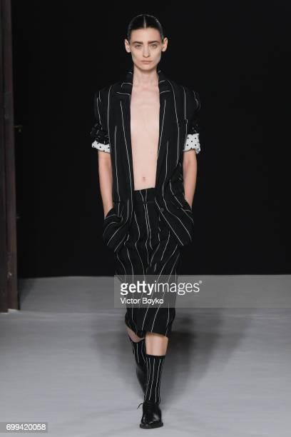 A model walks the runway during the Haider Ackermann Menswear Spring/Summer 2018 show as part of Paris Fashion Week on June 21 2017 in Paris France