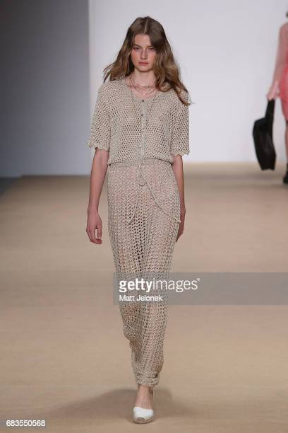 A model walks the runway during the HANSEN GRETEL show at MercedesBenz Fashion Week Resort 18 Collections at Carriageworks on May 16 2017 in Sydney...