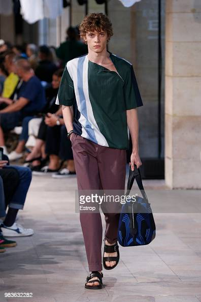 Model Walks The Runway During The Hermes Menswear Spring Summer 2019