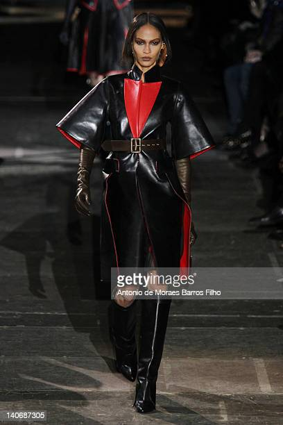 A model walks the runway during the HGivenchy ReadyToWear Fall/Winter 2012 show as part of Paris Fashion Week on March 4 2012 in Paris France