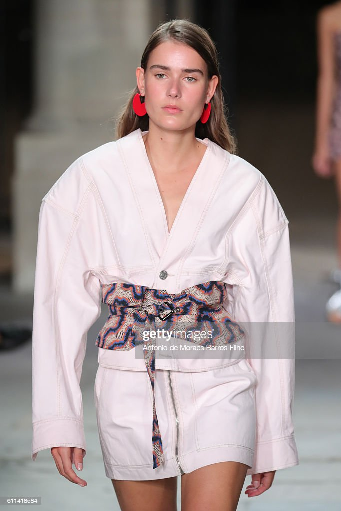 A model walks the runway during the Isabel Marant show as part of the Paris Fashion Week Womenswear Spring/Summer 2017 on September 29, 2016 in Paris, France.
