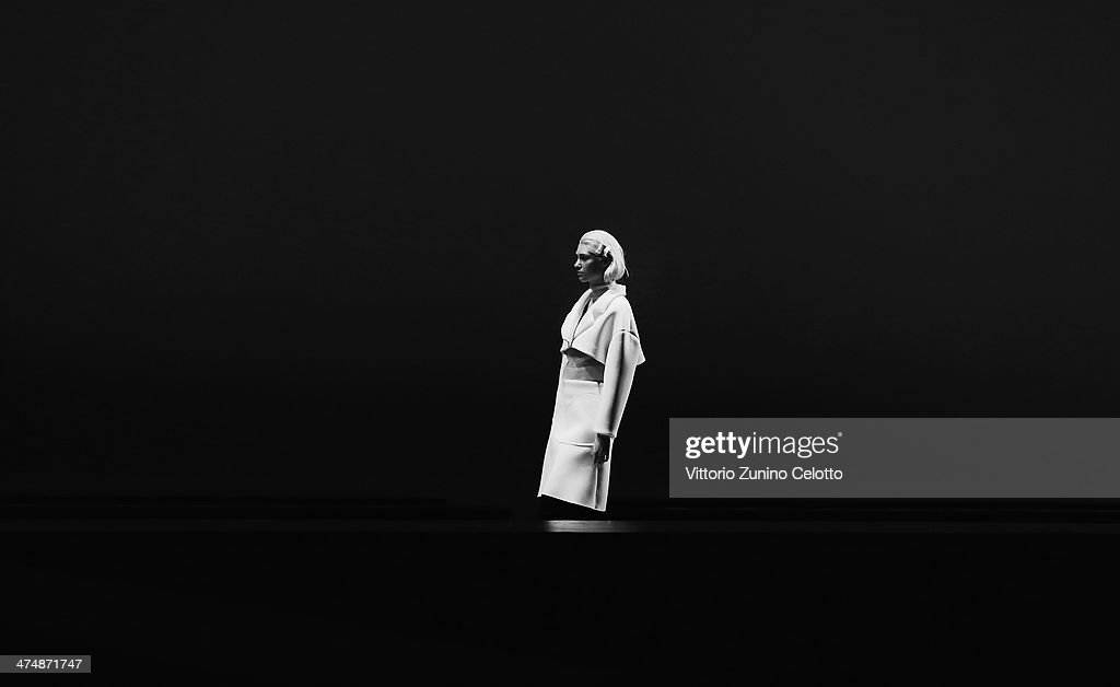 A model walks the runway during the Jacquemus show as part of the Paris Fashion Week Womenswear Fall/Winter 2014-2015 at Palais de Tokyo on February 25, 2014 in Paris, France.
