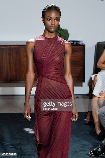A model walks the runway during the Jason Wu fashion show at Spring Studios on September 9 2016 in New York City