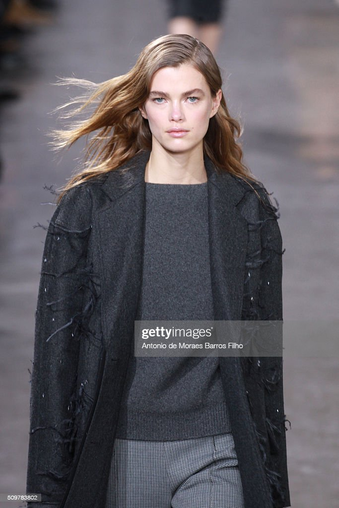 A model walks the runway during the Jason Wu show as a part of Fall 2016 New York Fashion Week at Spring Studios on February 12, 2016 in New York City.