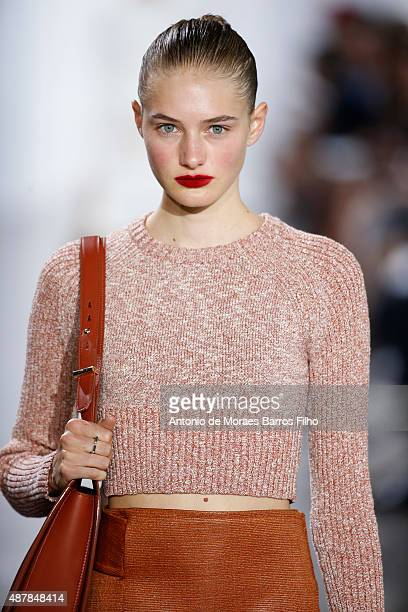 A model walks the runway during the Jason Wu show as a part of Spring 2016 New York Fashion Week on September 11 2015 in New York City